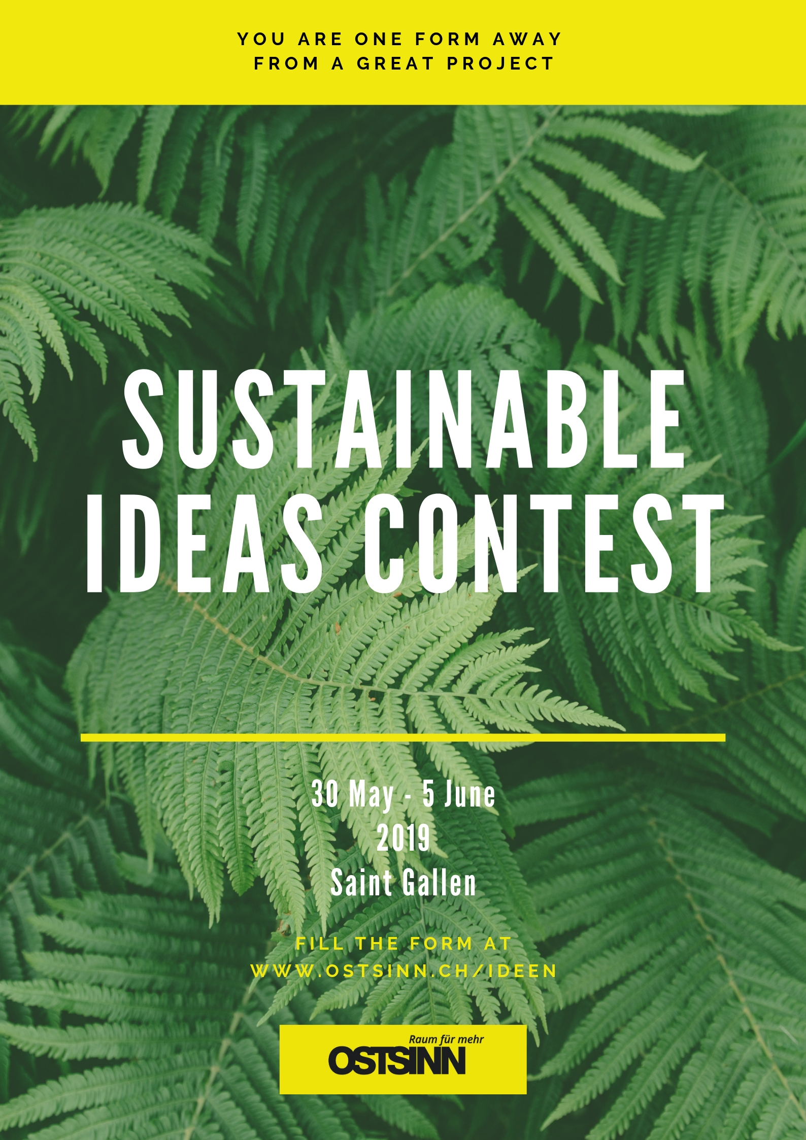 Sustainable project ideas contest – Make your ideas come true